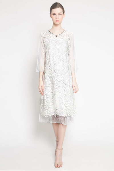 Duma Dress in White