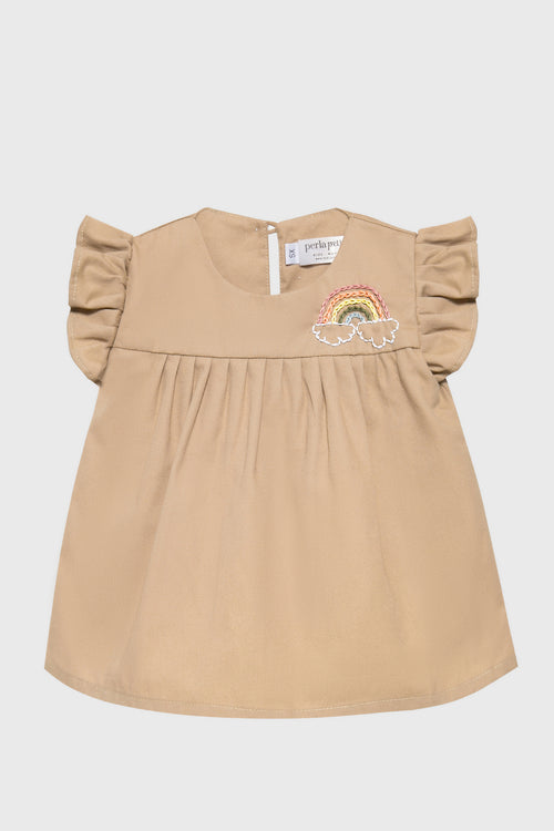 Rainbow Top in Hazelnut