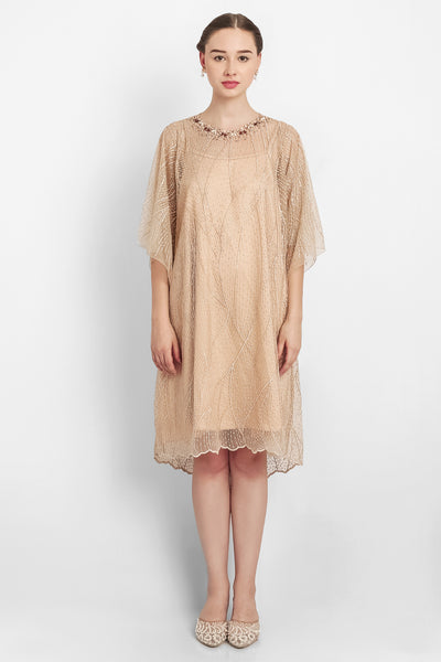 Kezia Dress in Light Brown