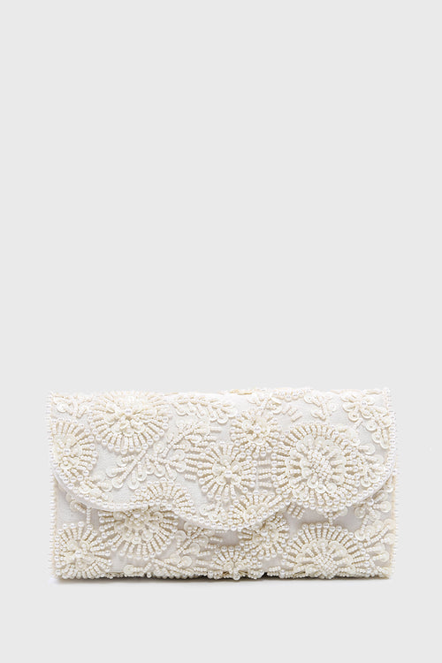 Zahra Clutch in White