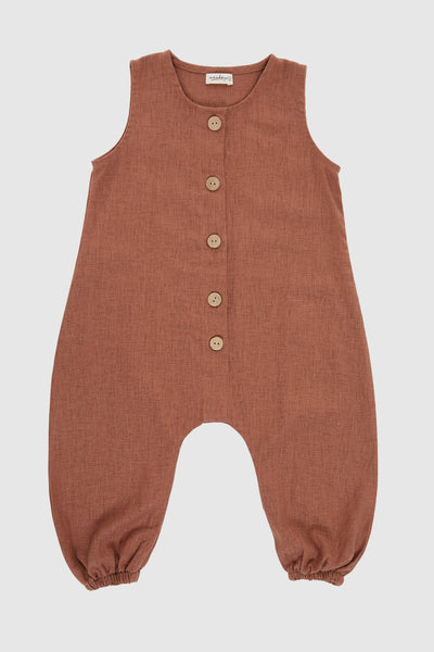 Semesta Playsuit in Nutmeg