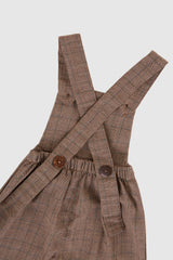 Meadow Baby Bhumi Overall in Brownstone