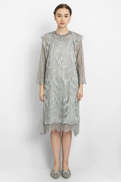 Aimee Ariel Dress in Grey