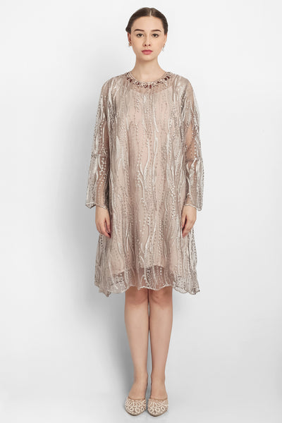 Raina Dress in Light Brown
