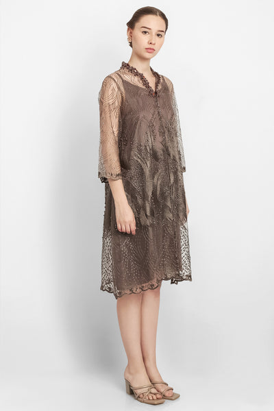 Lillac Dress in Dark Brown
