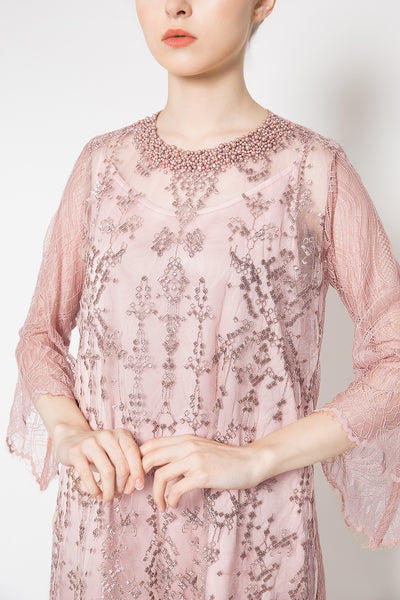 Aurelia Dress in Dusty Pink