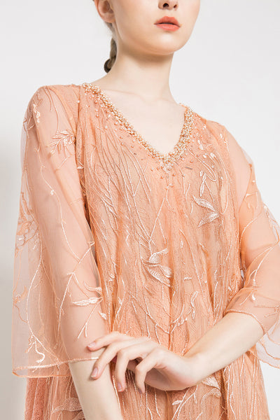 Joelene Dress in Peach