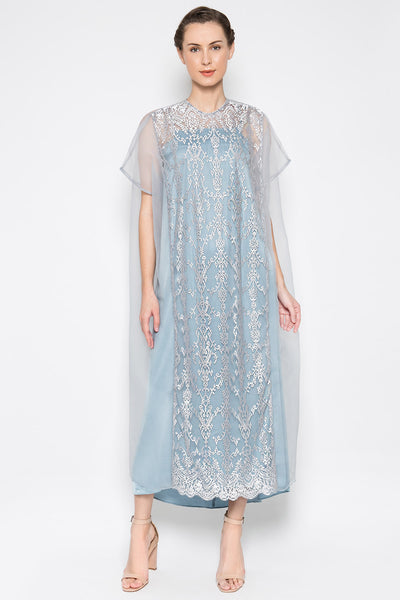 Esha Dress in Greyish Blue