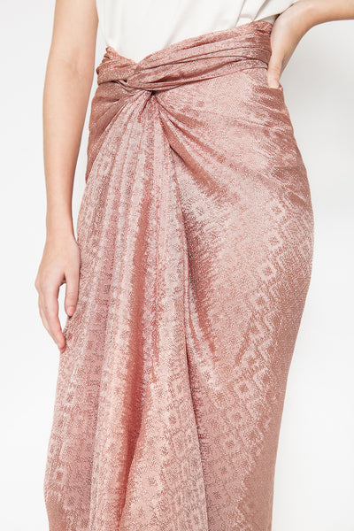 Azkia Skirt in Dark Nude
