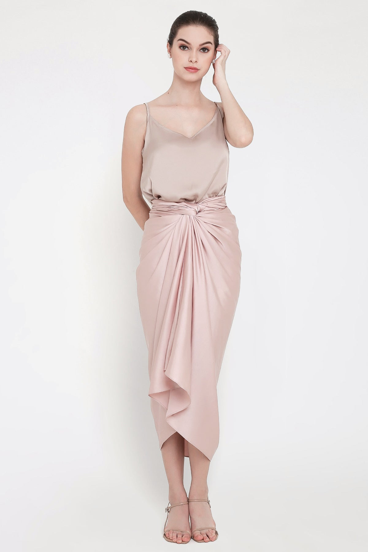 Aisyah Skirt in Dusty Pink