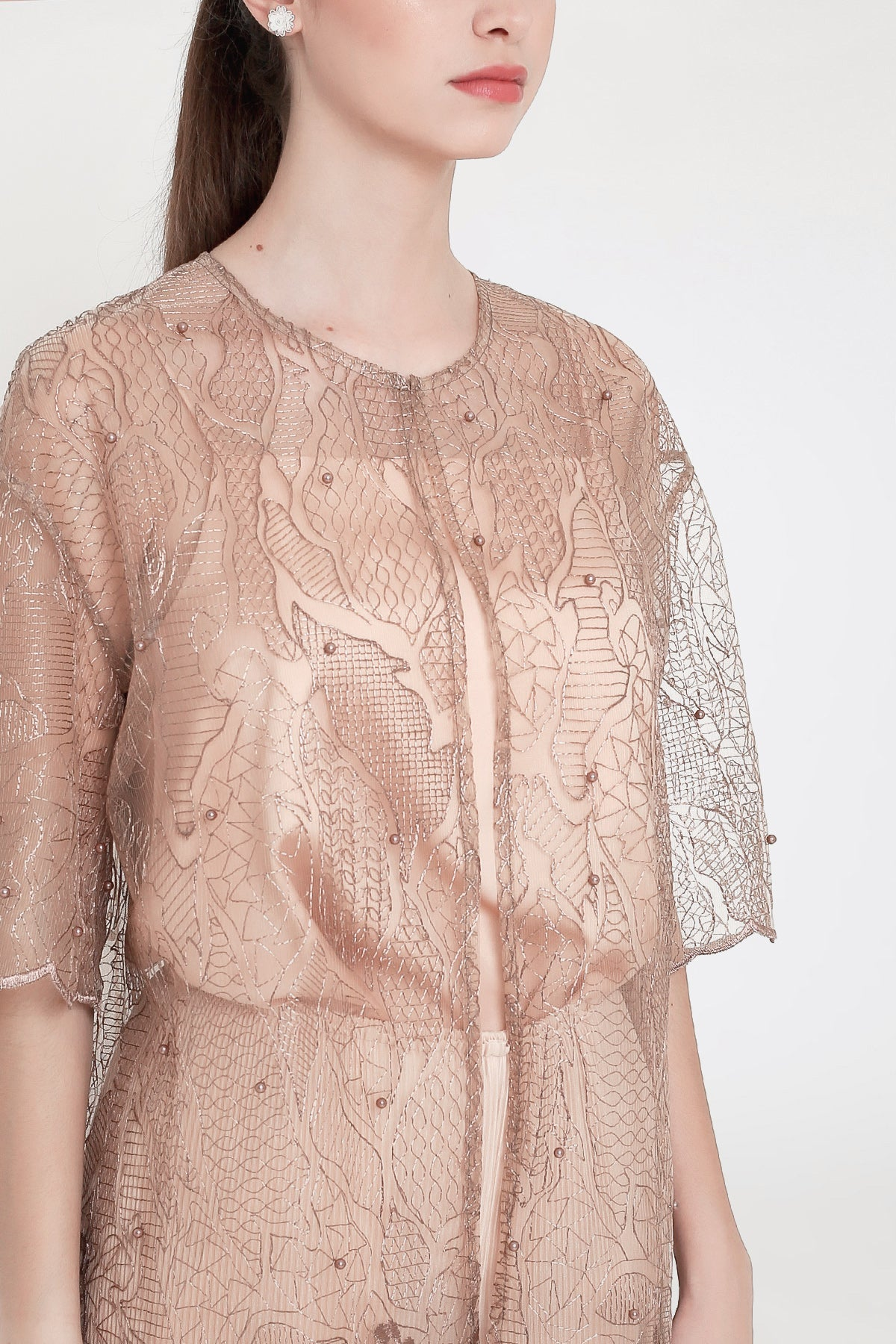 Athina Outer in Dark Nude