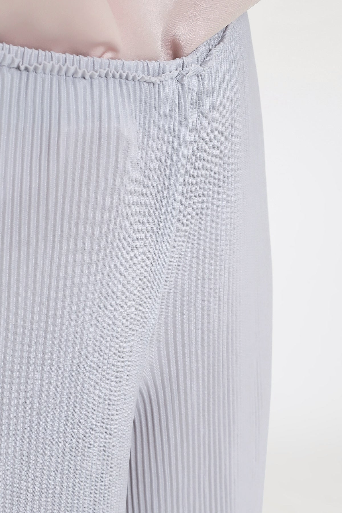 Gina Pleats Pants in Grey