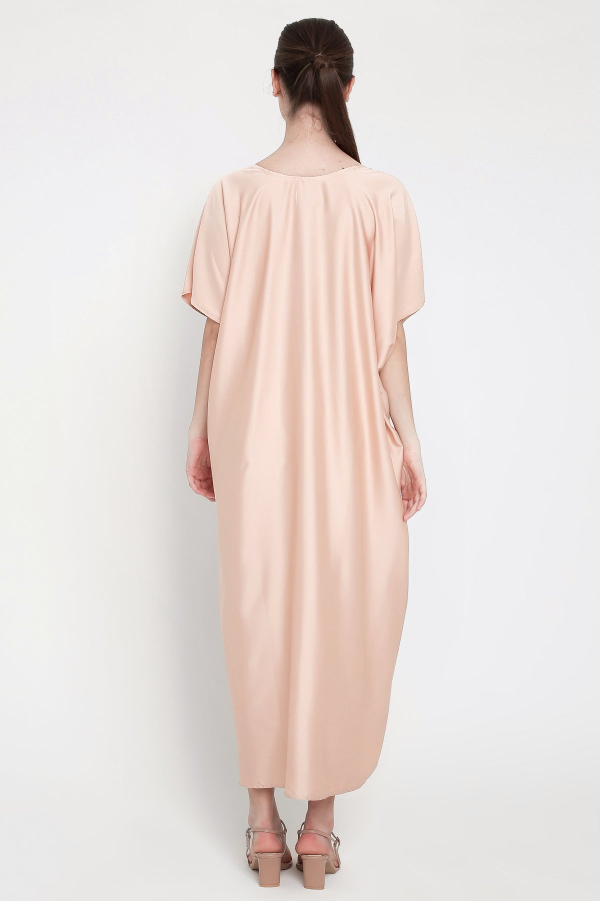 Maharani Kaftan Dress in Dark Nude