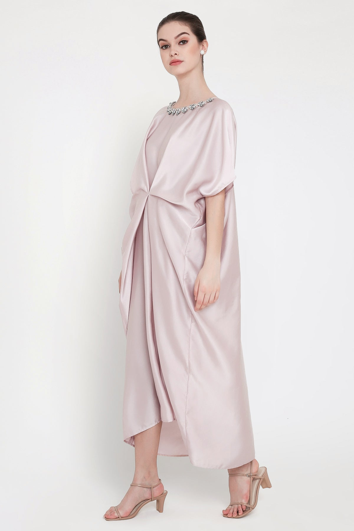 Maharani Kaftan Dress in Grey