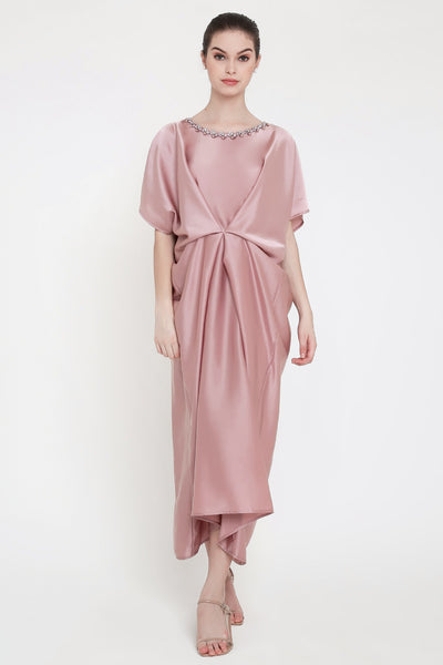 Maharani Kaftan Dress in Pink