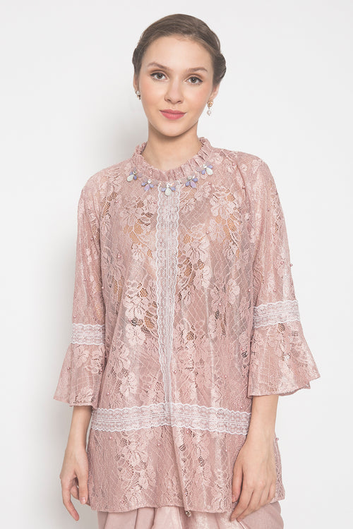 Amelia Top in Dusty Pink