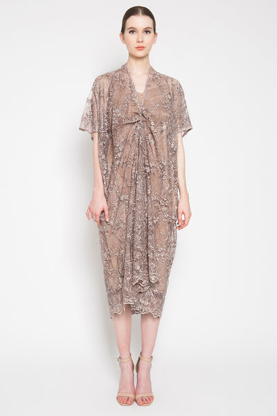 Atina Dress in Brown