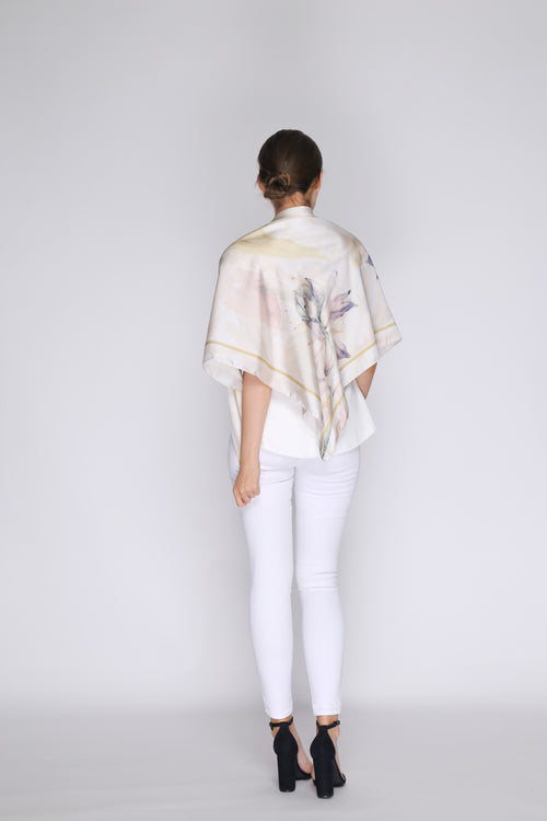 Ava Maxi Scarf in Cream