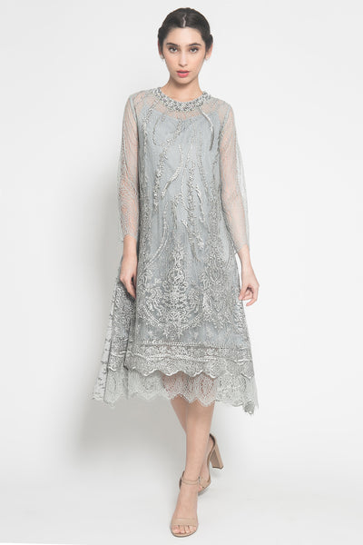 Camellia Dress in Grey
