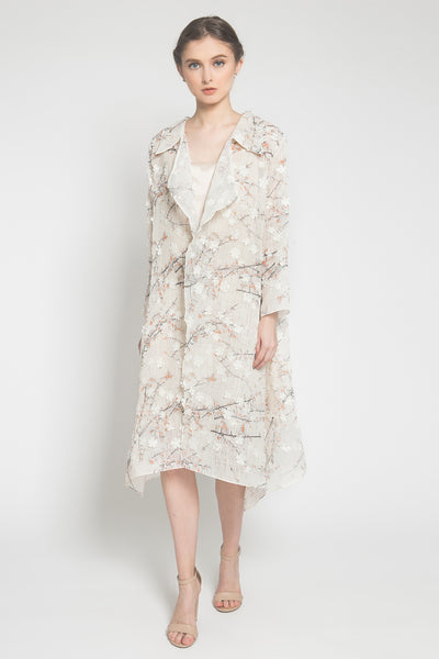 Floral Outer in Nude