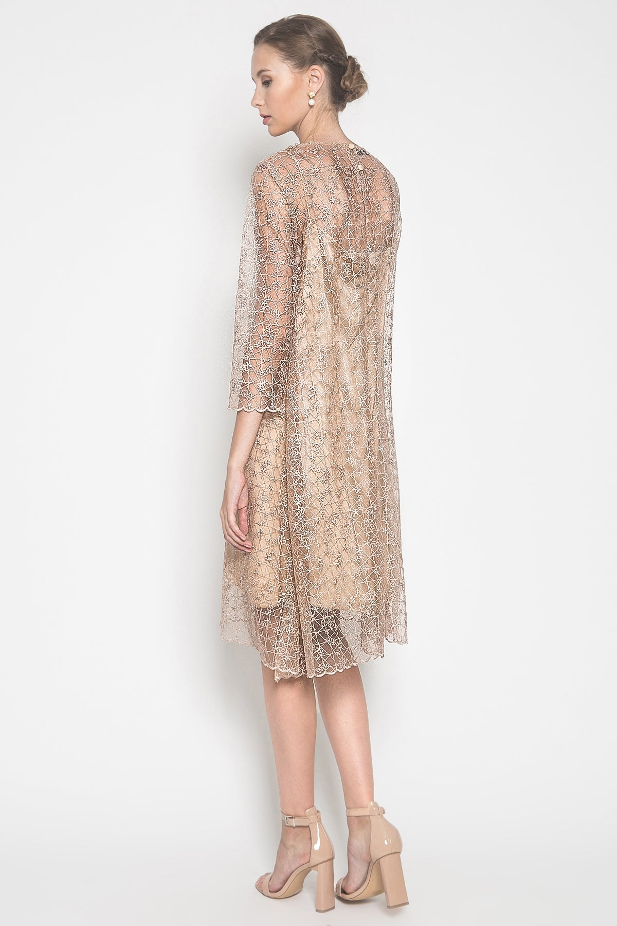 Cenora Dress in Gold