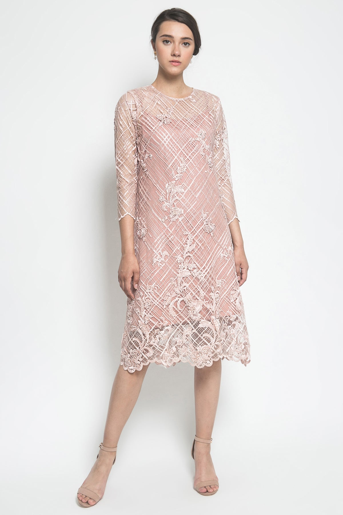 Adara Official Cathya Dress in Soft Pink