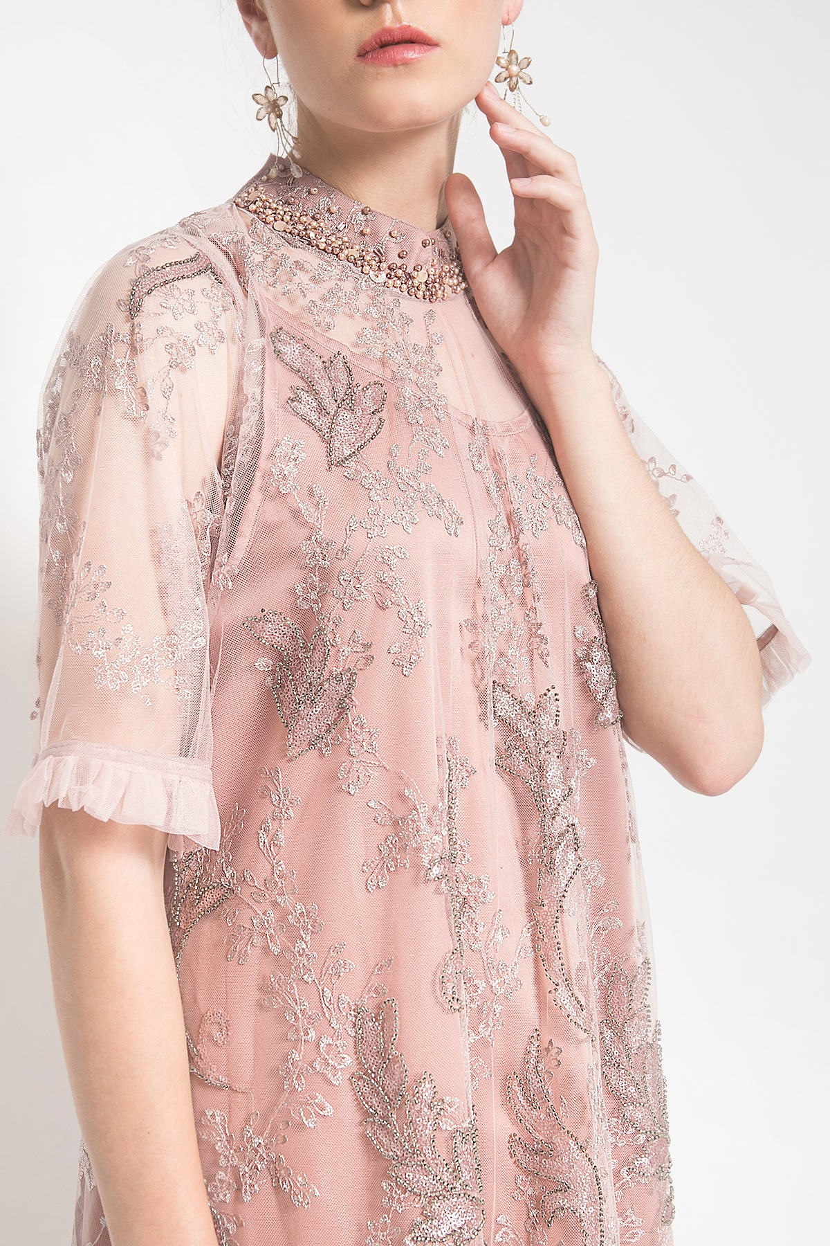 Kalula Dress in Dusty Pink