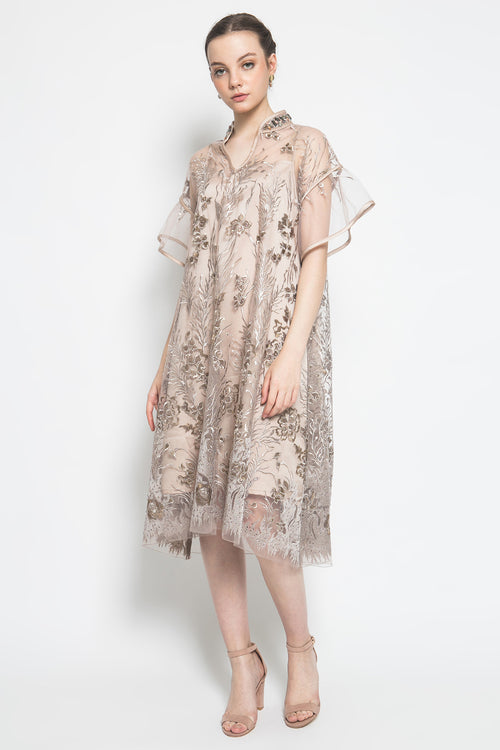 Sakura Dress in Brown