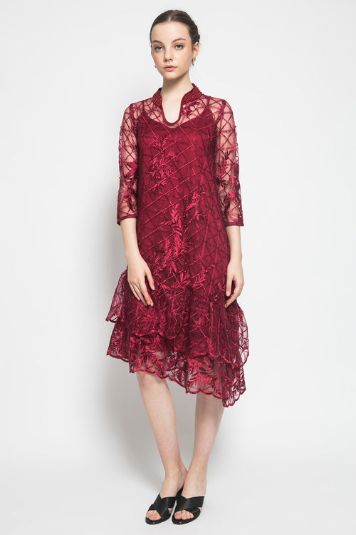 Alamanda Dress in Red