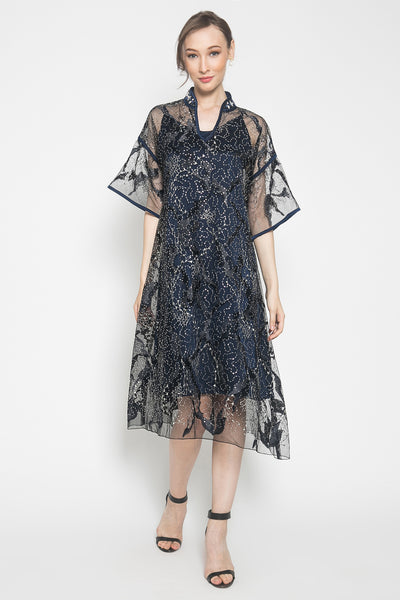 Sakura Dress in Navy