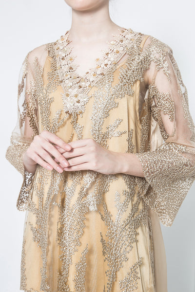 Reina Dress in Gold