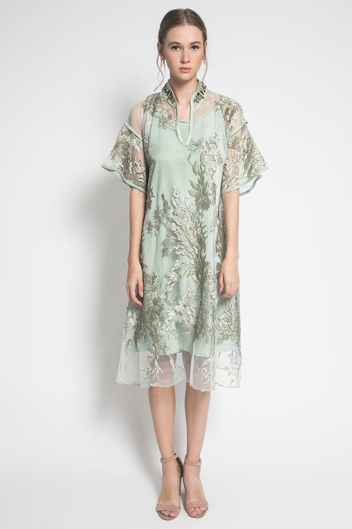 Sakura Dress in Green Mint