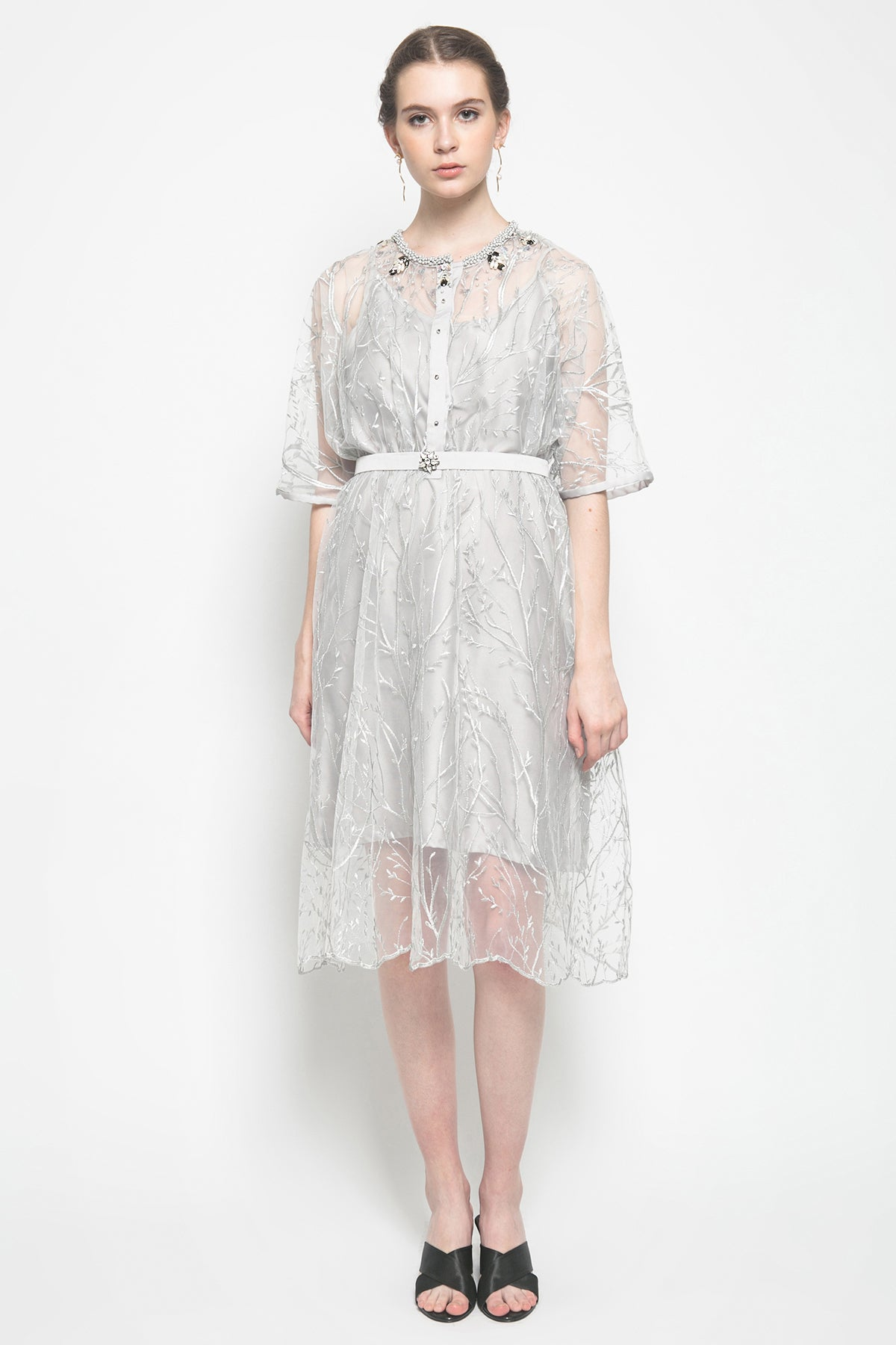 Taskya Dress in Grey
