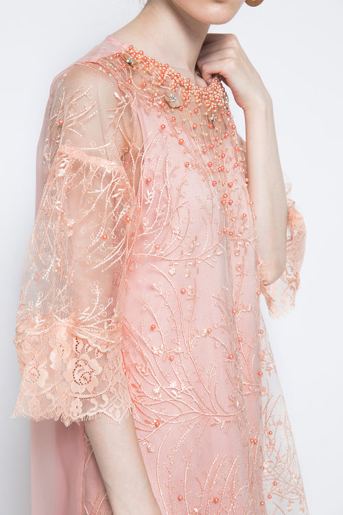 Nabeela Dress in Peach