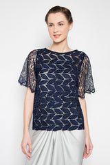 Parva Top in Navy