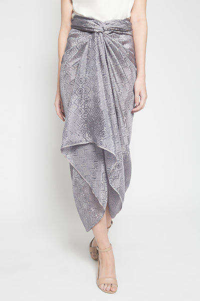 Azkia Skirt in Lilac Grey