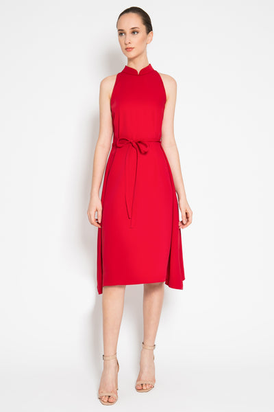 Qing Dress in Scarlet Red