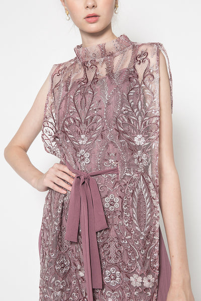 Amita Dress in Red Plum