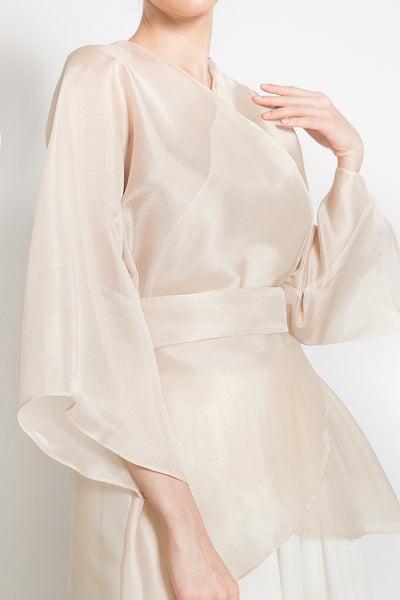 Naura Organza Outer Top in Gold