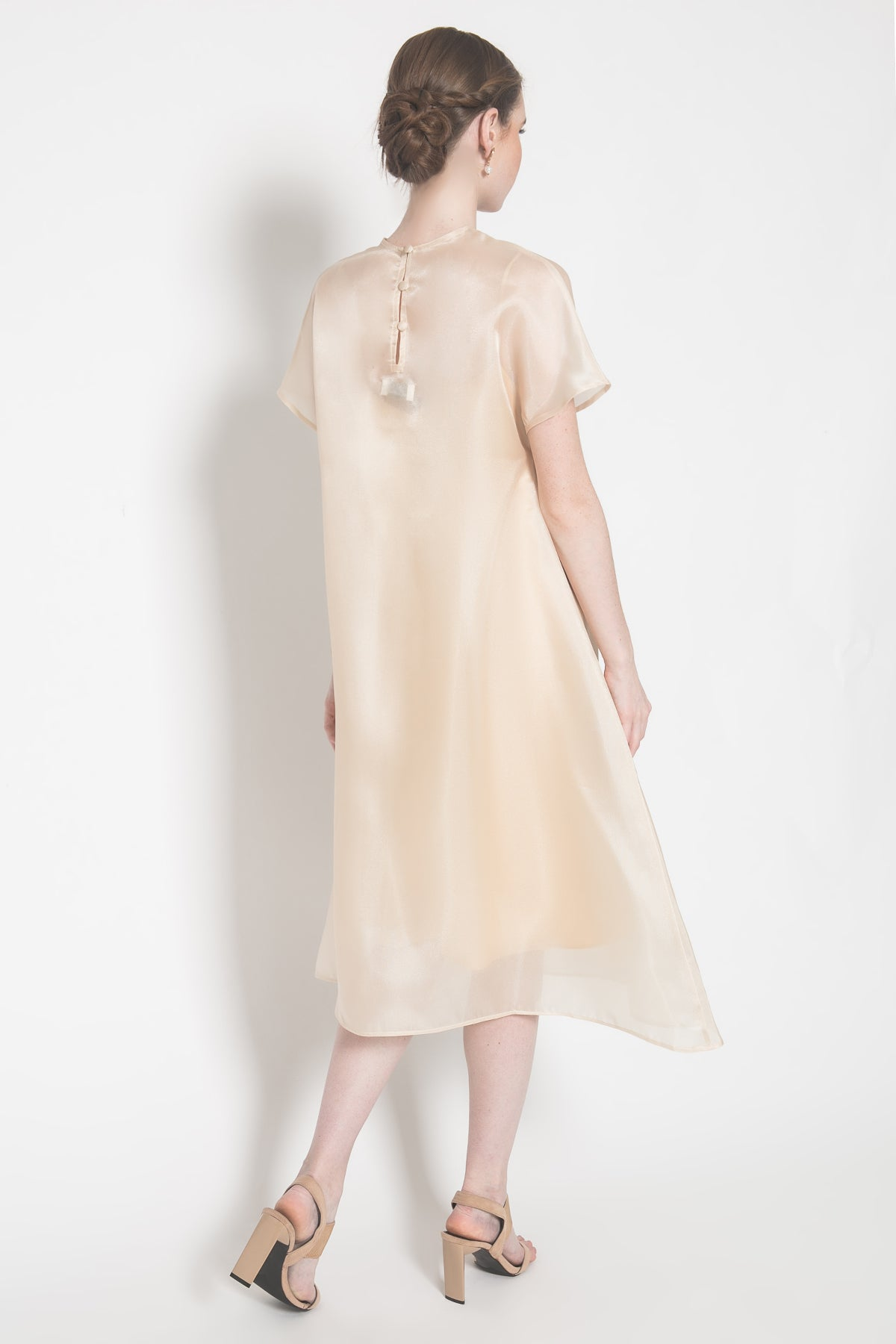 Mira Organza Dress in Gold