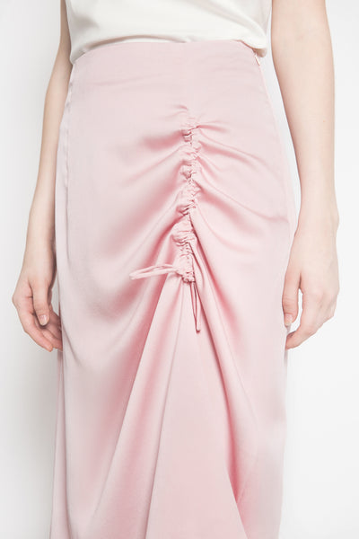 Up Front Skirt in Dusty Pink