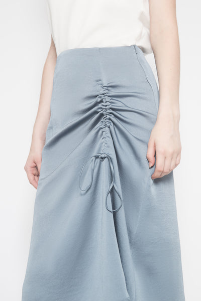 Up Front Skirt in Greyish Baby Blue