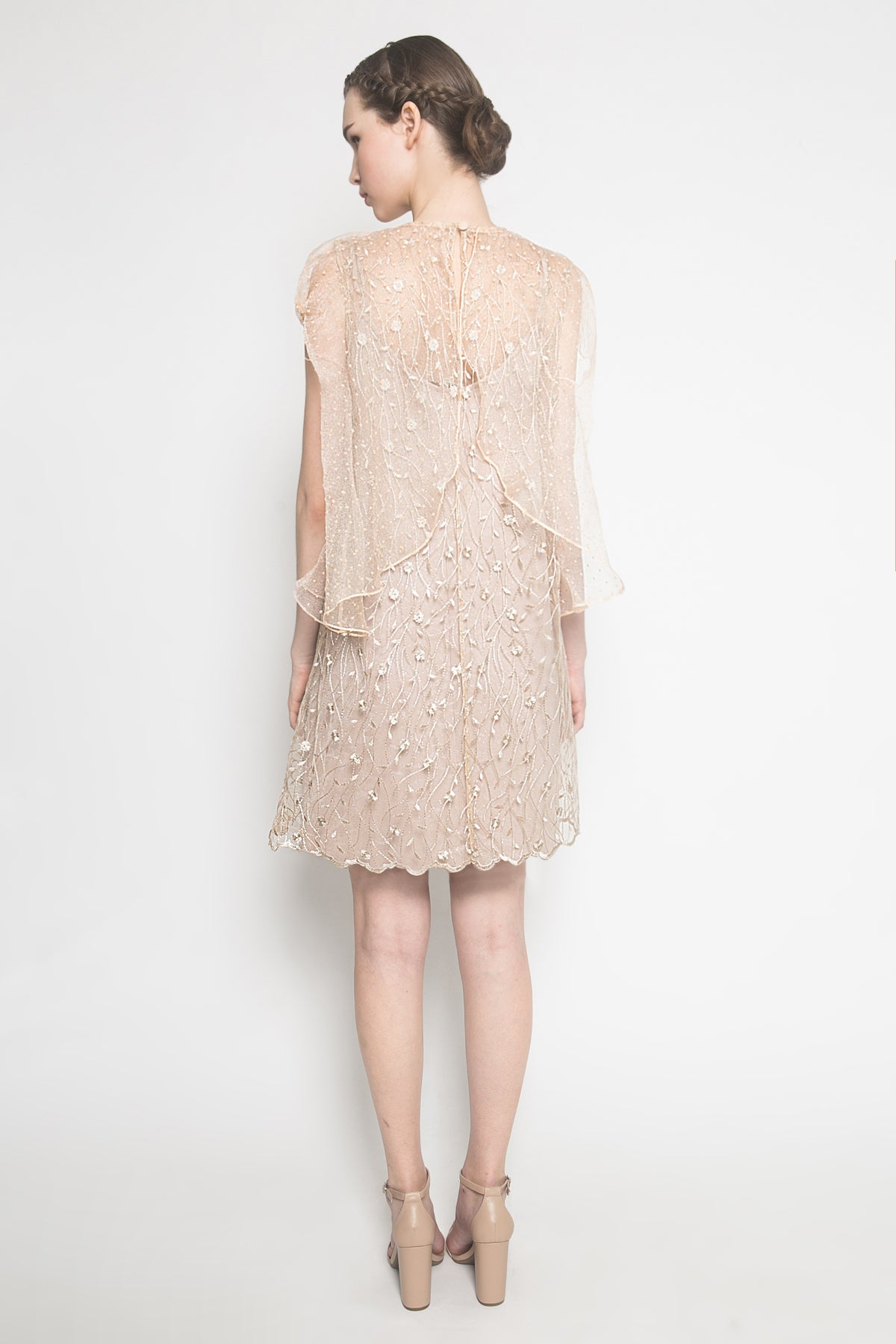 Peggy Dress in Creme