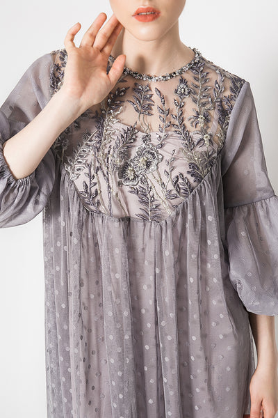 Dacota Dress in Warm Grey