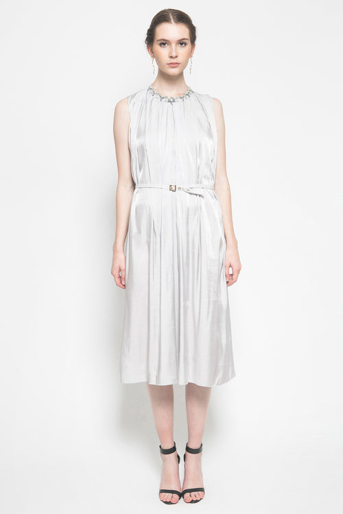 Micha Dress in Light Grey