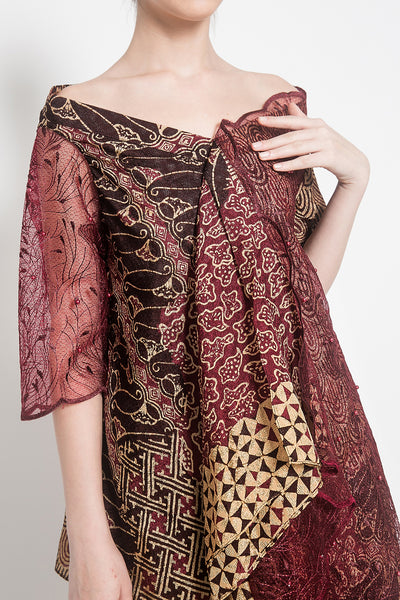 Amera Set in Oxblood & Dusty Gold