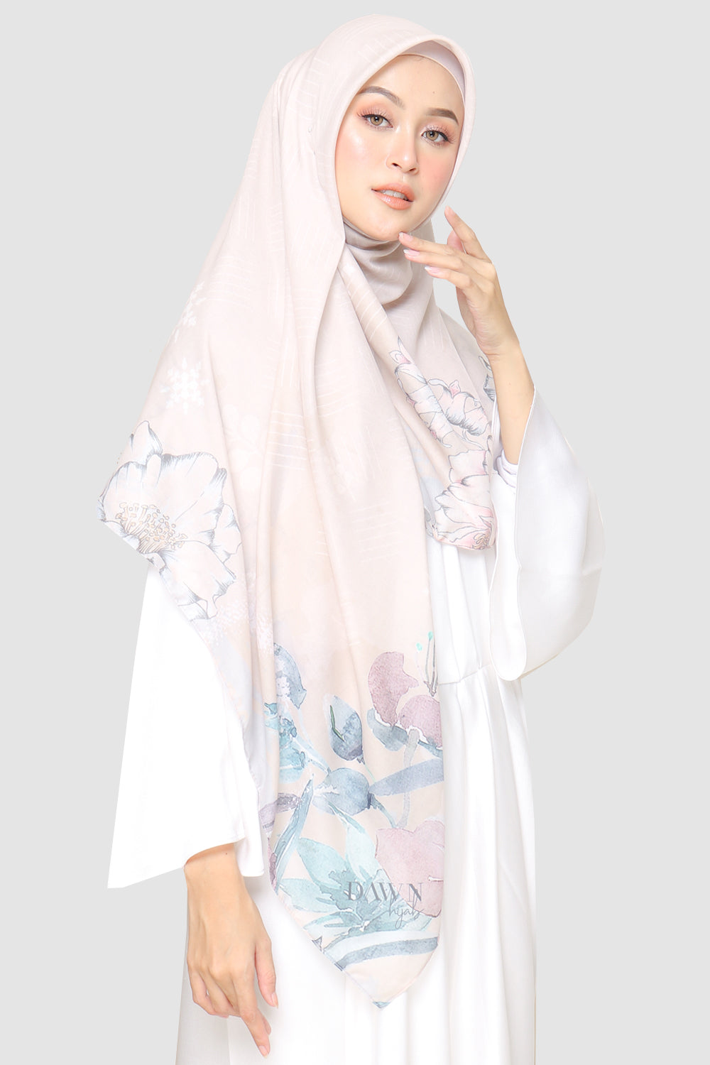Beatrix Scarf in Nude