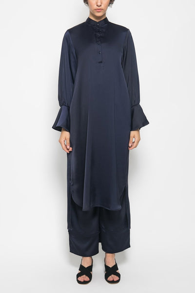 Buttoned-up Lara Tunic in Navy