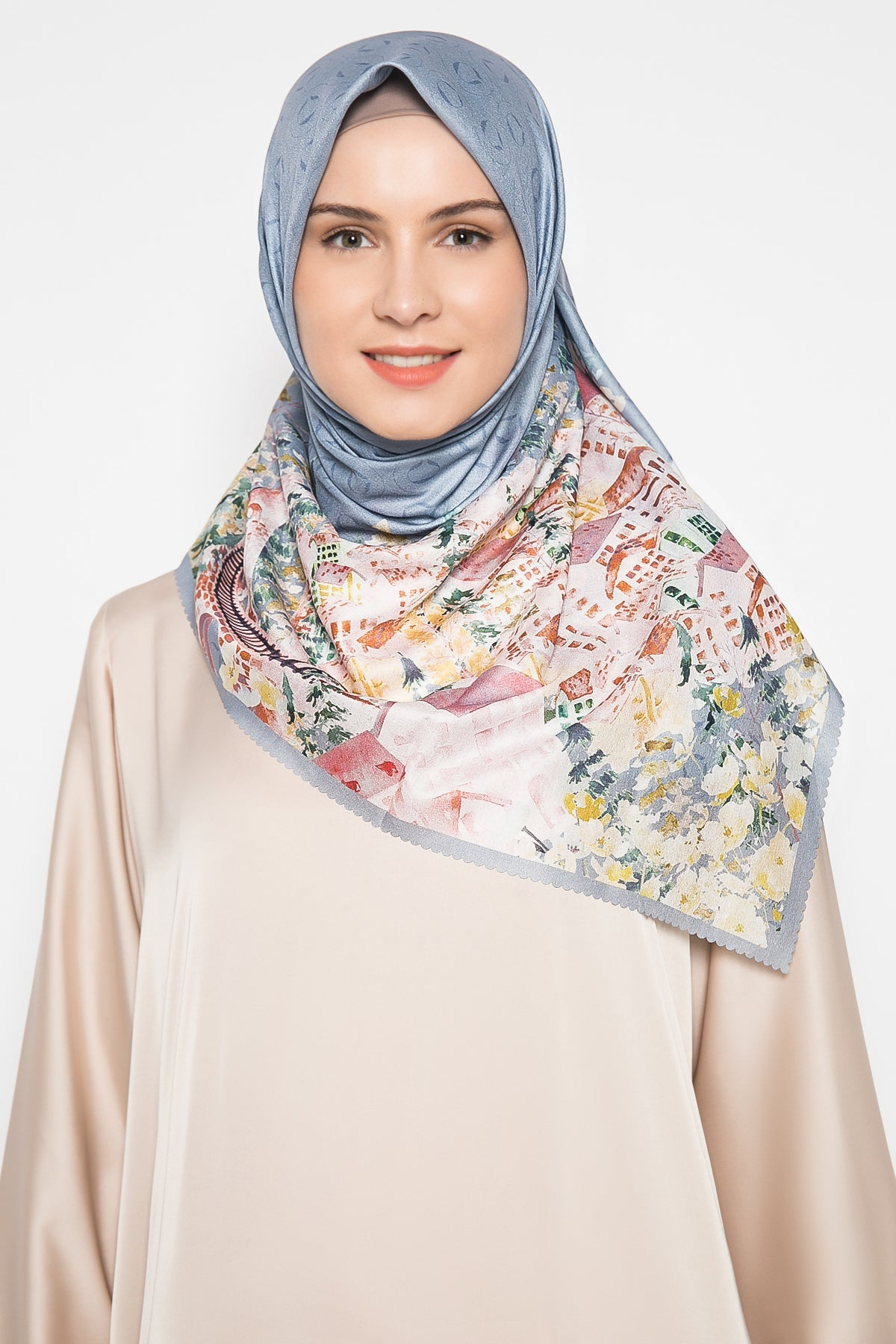 Malerei Alps Scarf in Dusty Blue