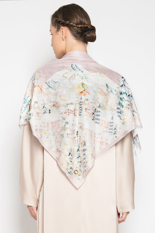 Malerei Lucerne Scarf in Dusty Pink